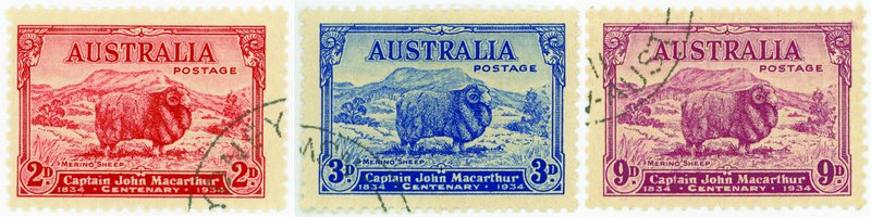 Macarthur stamps